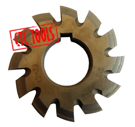 Set of 6 HSS 0.5 Mod Involute Gear Cutters
